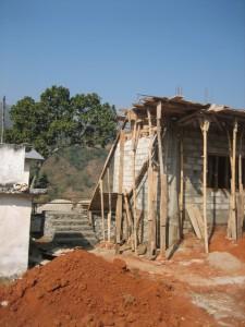 Errichtung des Treppenhauses
