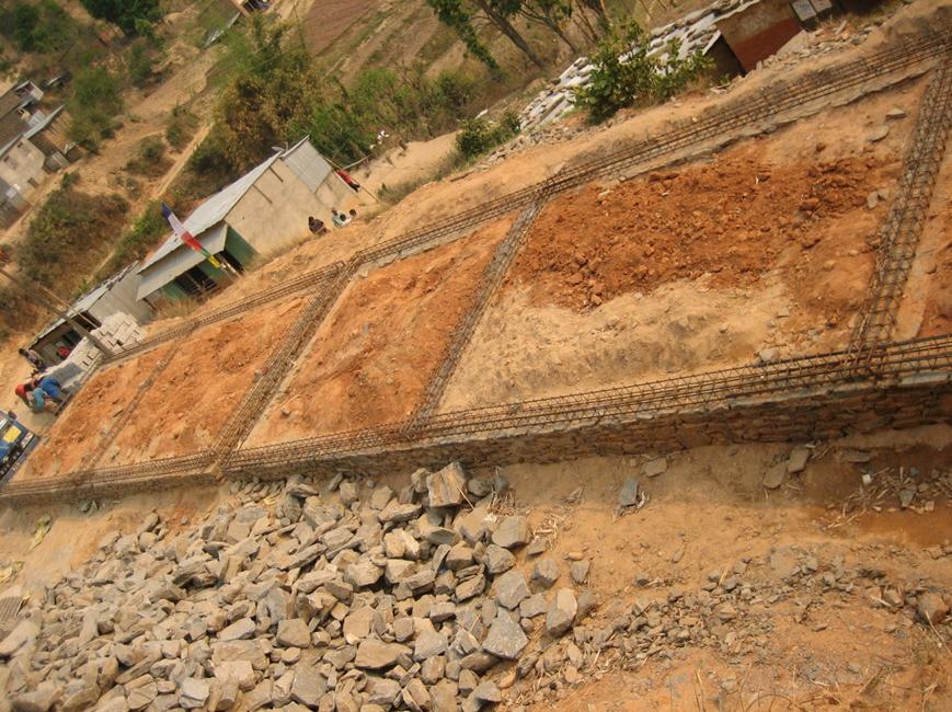Fundament für einen Teil des neuen Schulgebäudes